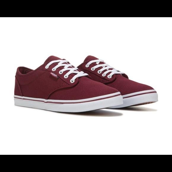 ff984390e510 Vans Women s Atwood Burgundy Sneakers. M 5c166de7fe5151271bda9f7f